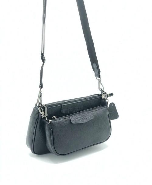 1744 Women's Black Leather Bag