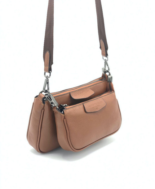 1744 Women's Brown Leather Bag