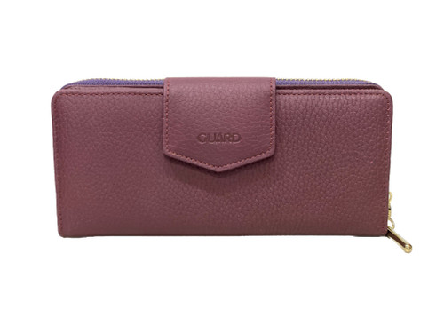 2214 Women's burgundy leather wallet