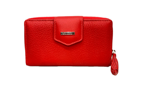 2213 Women's red leather wallet