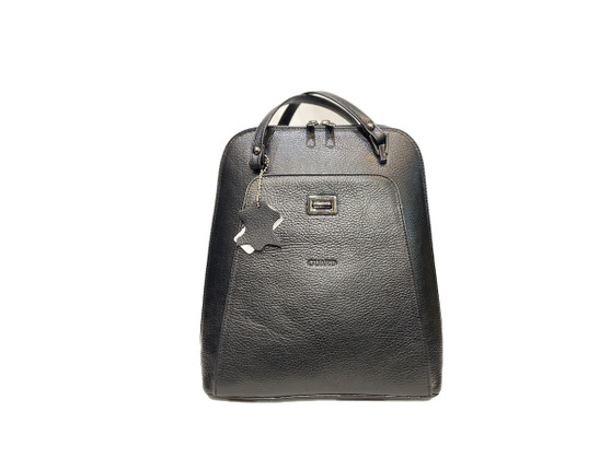 603 Black Leather Handbag & Backpack