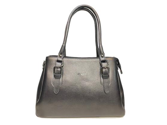 615 Black Leather Handbag