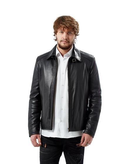 1760 Men's Black Leather Jacket