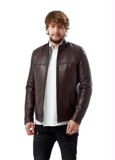 5103 Men's Burgundy Leather Jacket
