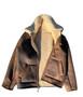 Men's Brown Natural Shearling Sheepskin Jacket