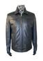 7007 Men's Black Leather Jacket