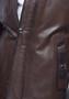 6056 Men's Brown Leather Jacket Fur Lining
