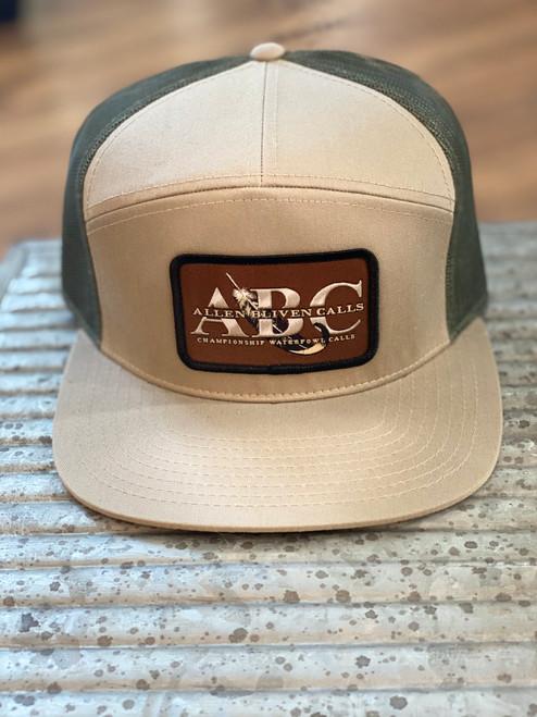 ABC Flat Bill Snapback Patch Hat - Khaki/Moss