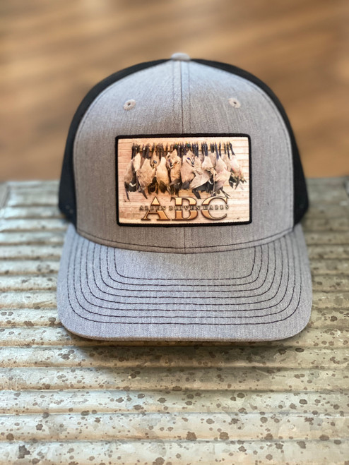 ABC Geese Patch Hat - Heather Gray/Black