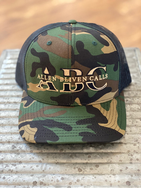 ABC Embroidered Hat - Old School Camo/Black
