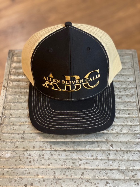 ABC Embroidered Logo Hat - Black/Vegas Gold