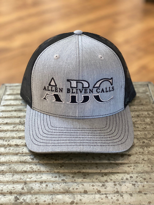 ABC Embroidered Logo Hat  - Heather Gray/Black