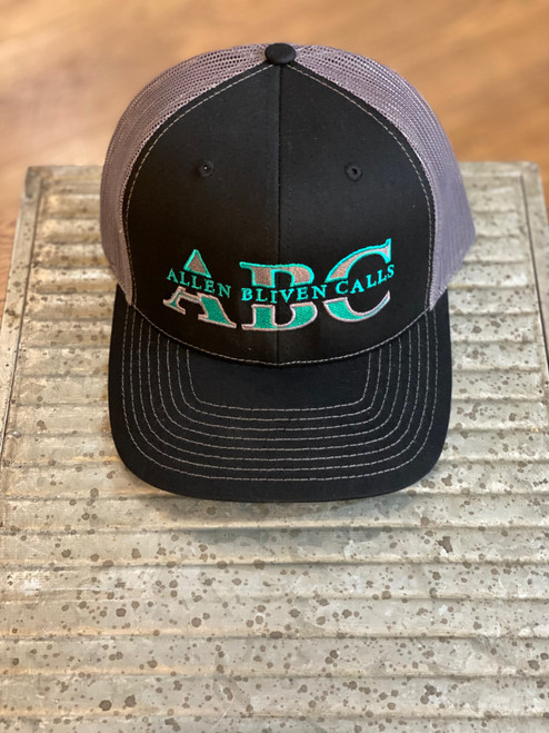 ABC Embroidered Logo Hat  - Black/Dark Charcoal/Teal