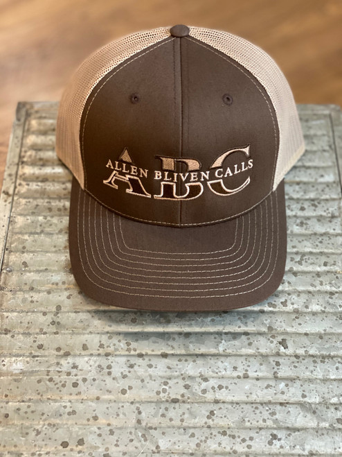 ABC Embroidered Logo Hat - Brown/Khaki