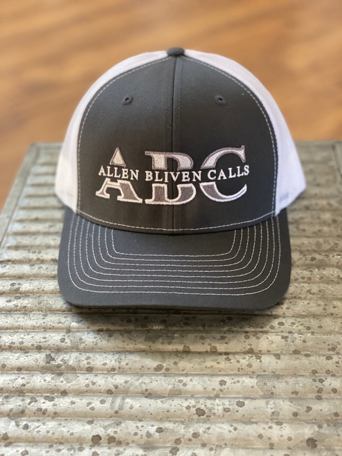 ABC Embroidered Logo Hat - Charcoal Gray/White