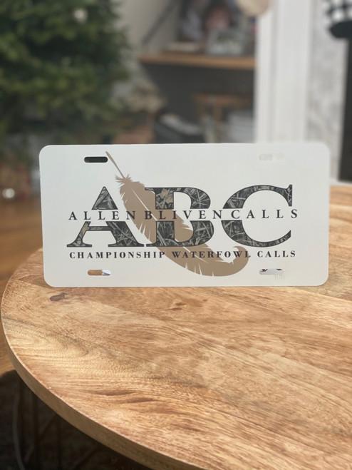 ABC License Plate - Camo/White