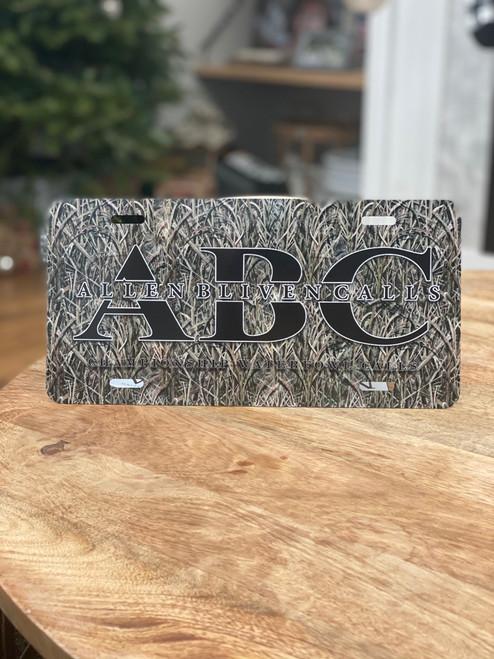 ABC License Plate - Camo/Black