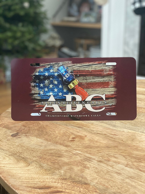 ABC Flag License Plate