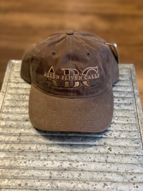 ABC Embroidered Logo Hat - Brown Waxed Cotton