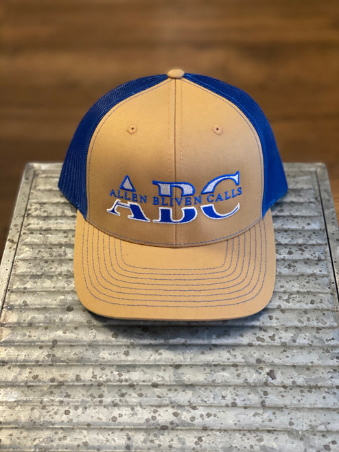 ABC Embroidered Logo Hat - Biscuit/Blue