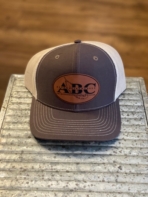 ABC Leather Pat Hat - Brown/Tan