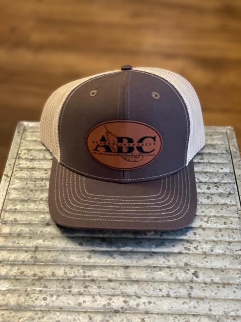 ABC Leather Pat Hat - Brown/Tan