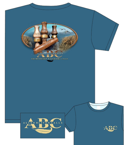 ABC Vintage Call Long Sleeve T-Shirt - Indigo Blue