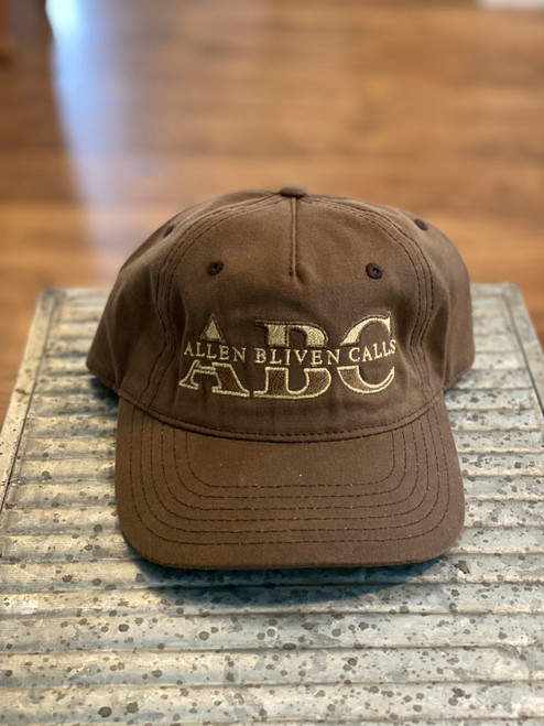 ABC Pinch Front Waxed Cotton Embroidered Logo - Brown