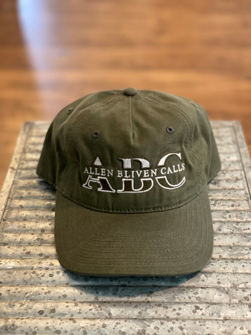 ABC Pinch Front Waxed Cotton Embroidered Logo - Olive
