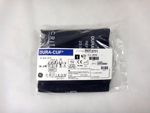 GE Critikon Blood Pressure Cuff Dura-Cuf 2771 (SINGLE CUFF) Adult