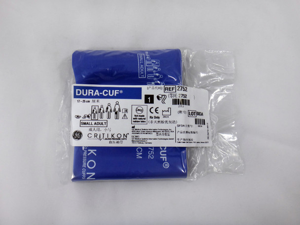 GE Critikon Blood Pressure Cuff Dura-Cuf 2752 (SINGLE CUFF) Small Adult