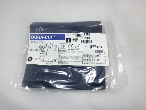 GE Critikon DURA-CUF 2203, Adult, BP Cuff (SINGLE CUFF)