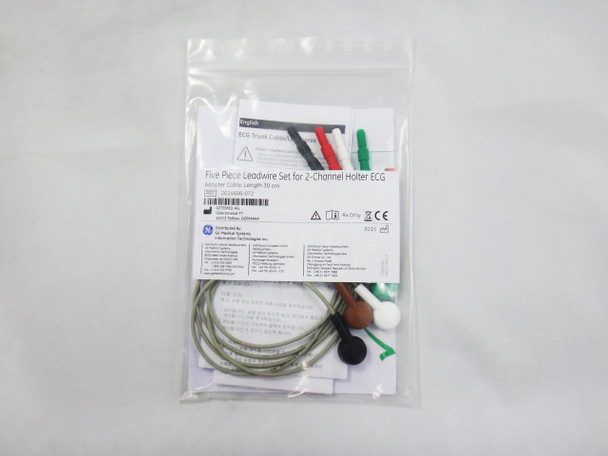5-Piece Leadwire set for 2-Channel Holter ECG, 30 cm, Adapter Cable