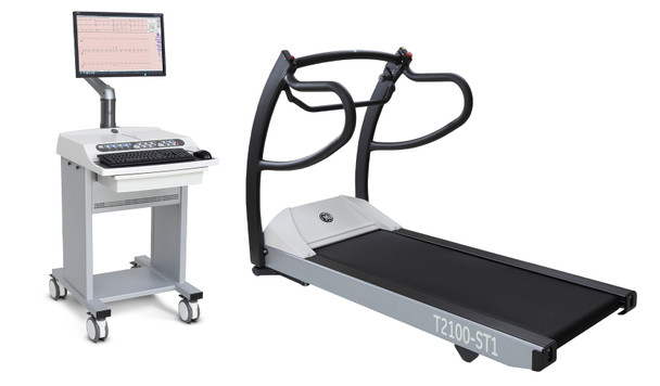GE T2100-ST Treadmill & CASE 6.73 Stress Test System