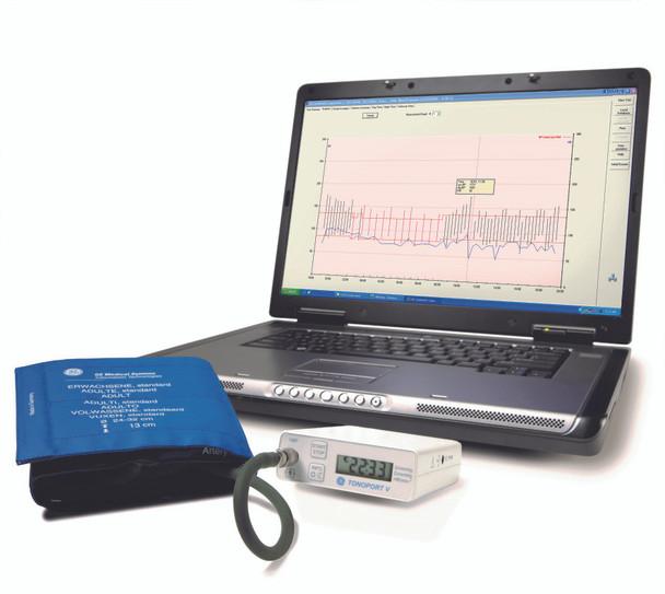 GE TONOPORT V Ambulatory Blood Pressure System & Cardiosoft Diagnostic System (2001762-184)