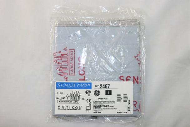 GE Critikon 2467 Blood Pressure Cuff, GE, Sensa Cuff, Large Adult Long, 2TB Screw Connector