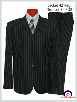 This Suit Only | Chalk Stripe Mod Suit