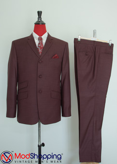 Pale Berry 60s Mod Style Tailored Vintage Suit