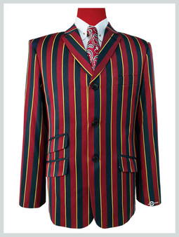 Maroon Black & Yellow stripe blazer | Maroon Black & Yellow  60s tailored mod style blazer