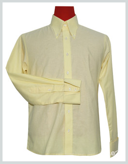 Button Down Oxford Fabric  | Cream Color Shirt For Men