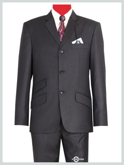 Shark Skin Charcoal Gray 60s Suit