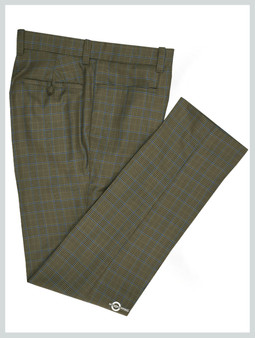 Mod Trouser | Brown Prince Of Check Trouser