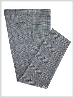 Prince of wales Check Trouser Grey Color Trouser For Man