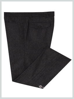 Mod Tweed Trouser | Charcoal Grey For Man