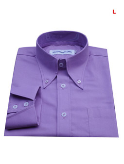 This Shirt Only. Button Down Pointed Collar Shirt | Purple Color