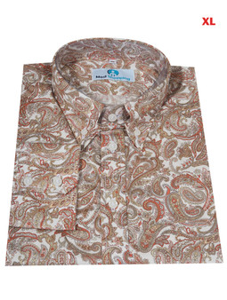 This Shirt Only. Paisley Shirt| White Multi Color Paisley Shirt For Man