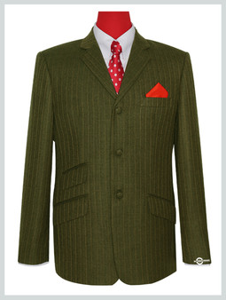 mod 60's herring bone tobacco tweed jacket for men's