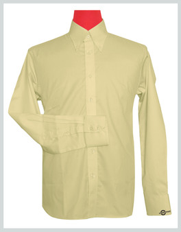 Button Down Collar Shirt | Vanilla Color Shirt For Man