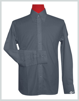 Button Down Collar Shirt |  Grey Color Shirt For Man