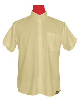 Short Sleeve Shirt | 60S Mod Style Vanilla Color Shirt For Man